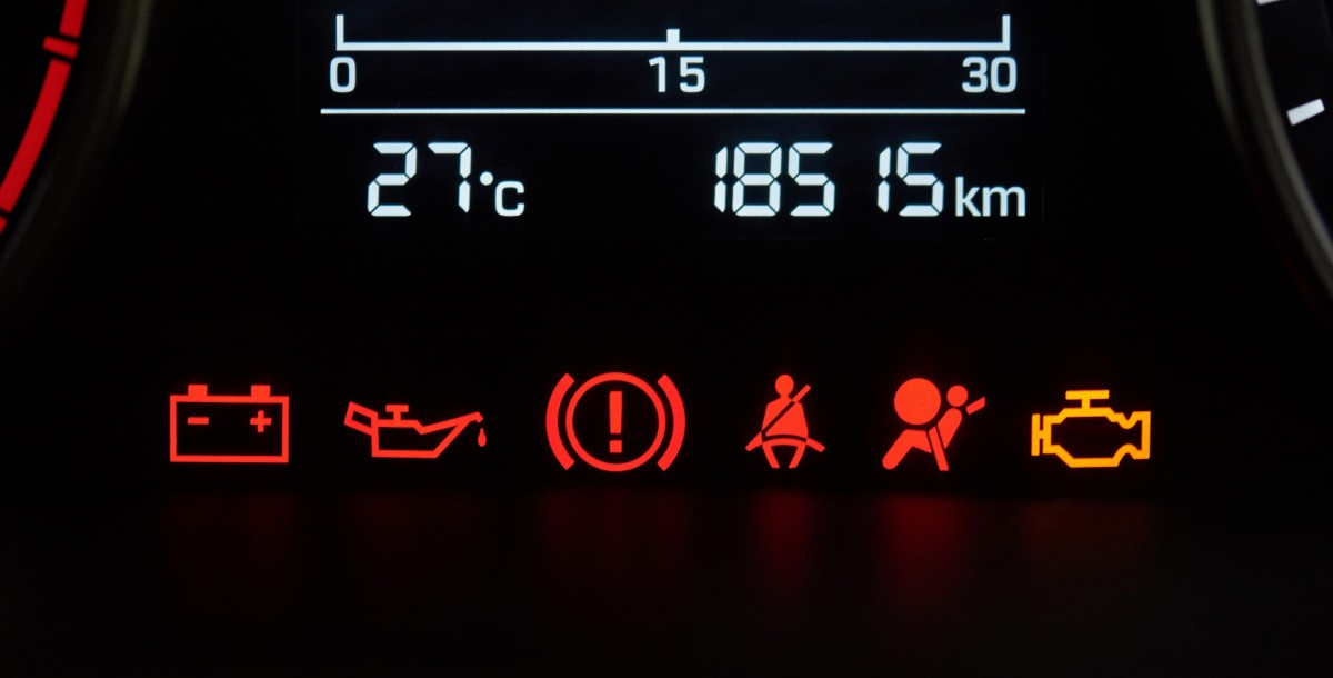 codes on a dashboard
